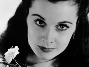 Gone With The Wind, Vivien Leigh, Scarlett, Ohara, Black White